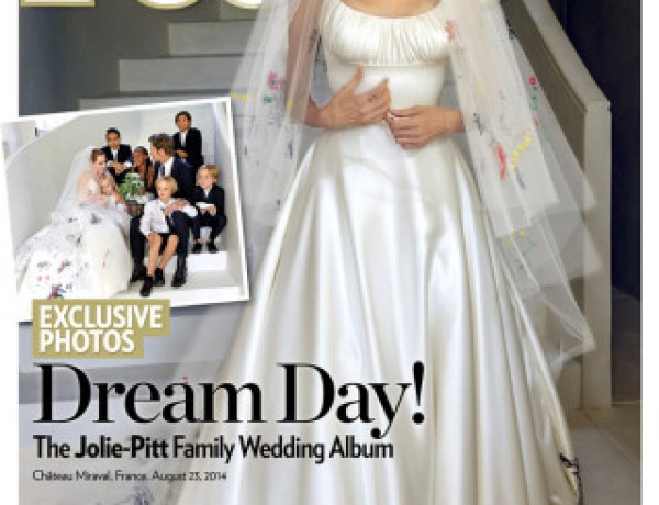 Brad Pitt and Angelina Jolie Wedding Photos cover People Magazine