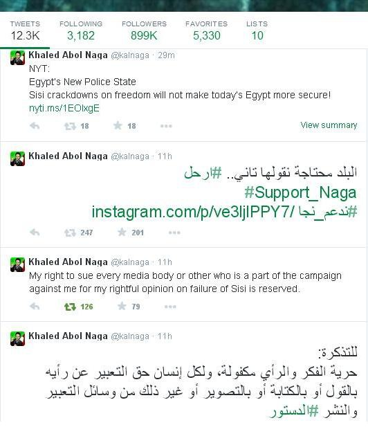 Outrageous Media Attack on Khaled Abol Naga