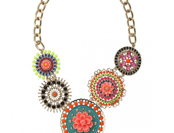 From the Office to the Dance Floor – pop of color necklace by Topshop