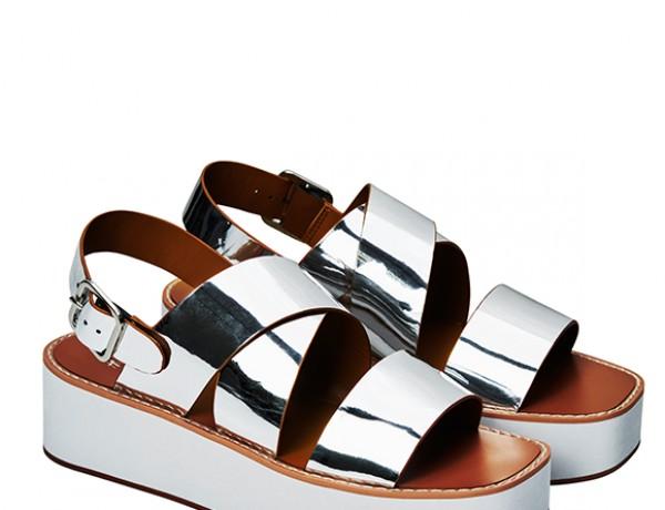 Silver platform sandals by H&M