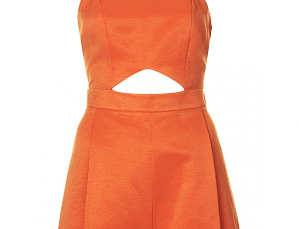 cut-out playsuit by Topshop