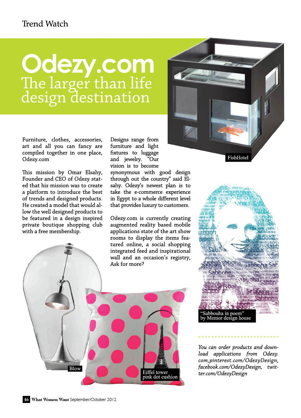 Larger than life design destination, Odezy.com