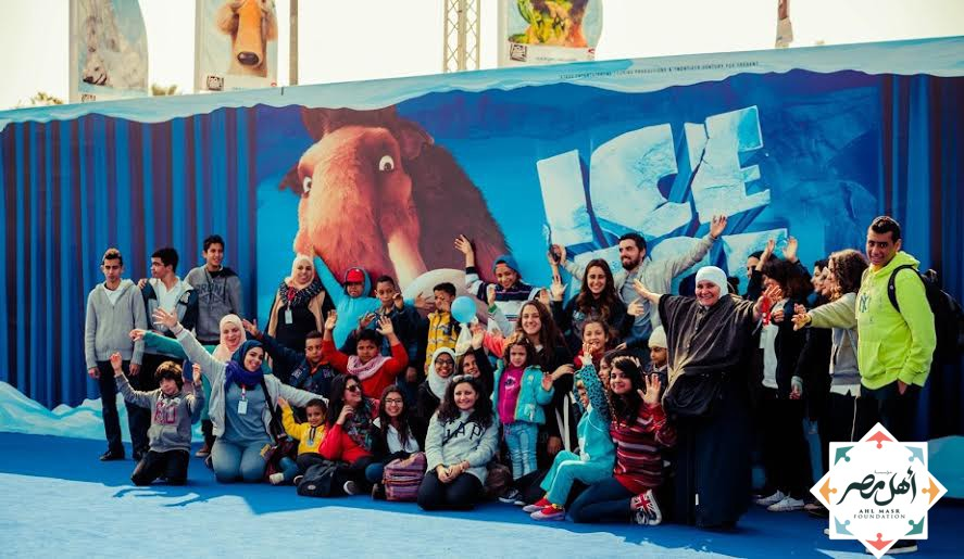 Burn victims go to see the Ice Age show