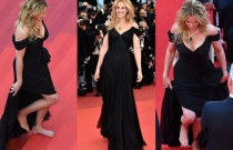 Julia Roberts goes Barefoot on the Cannes Red Carpet!