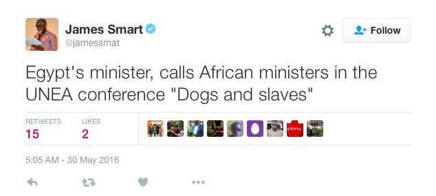 "Head of Egyptian Delegation at UN Conference Refers to Sub-Saharan Africans as ""Dogs and Slaves"""