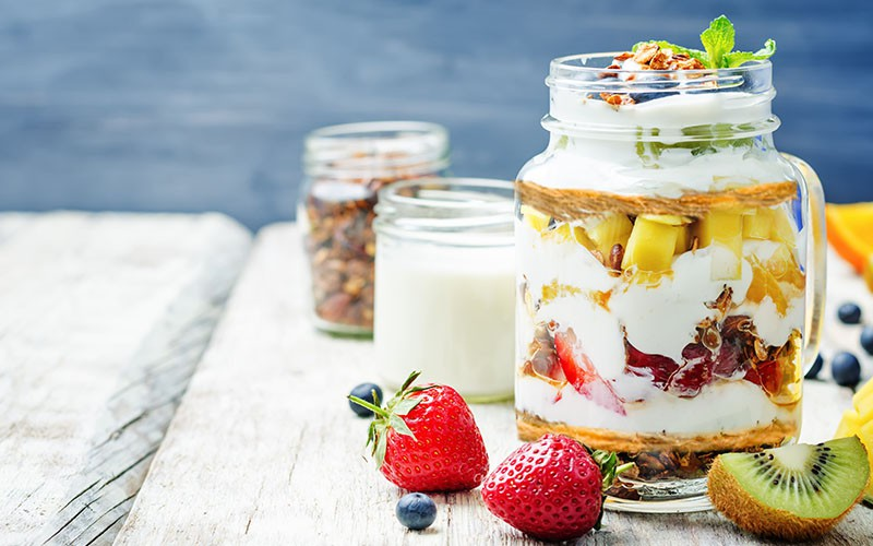 Dessert in a jar; Konafa and Nuts Parfait!