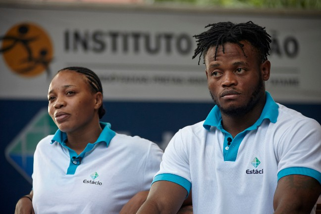 Popole Misenga and Yolande Mabika. Photo Credits: rio2016.com IOC
