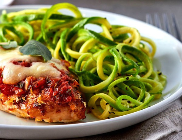 chicken-parmesan-over-zucchini-noodles