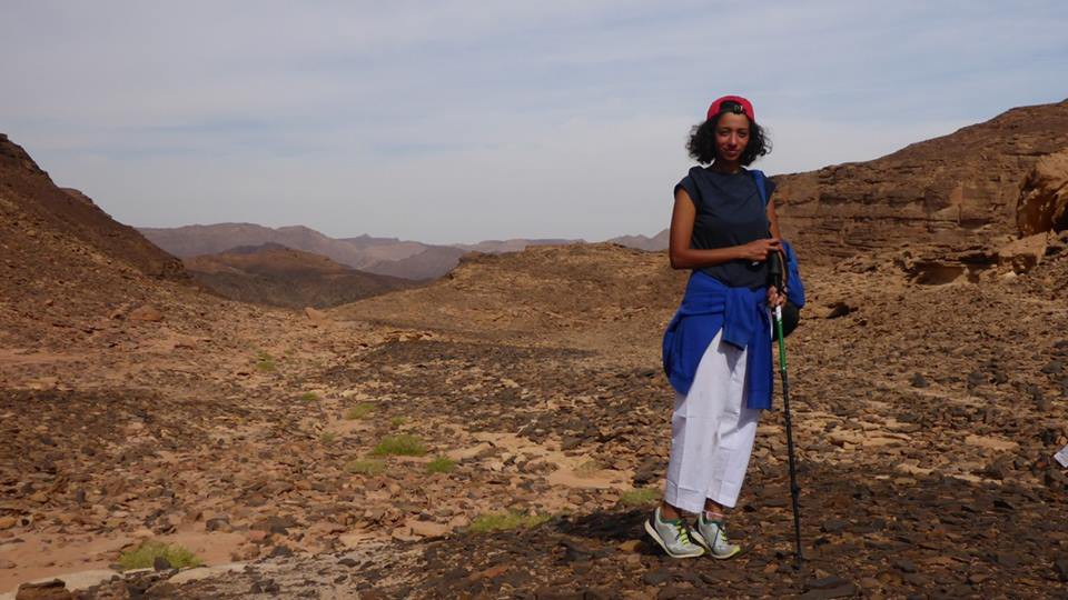 Asmaa Amr the first Egyptian woman to walk the Sinai trail!