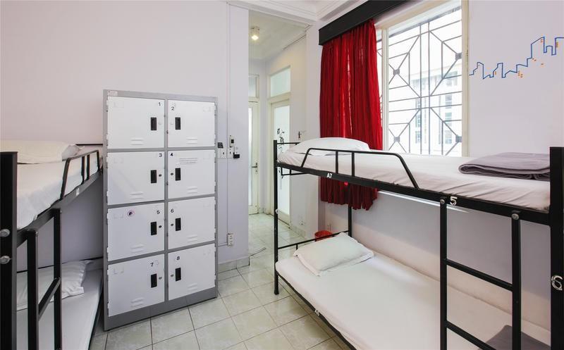 Lockers at Saigon Backpacker Hotel Credits: HostelWorld