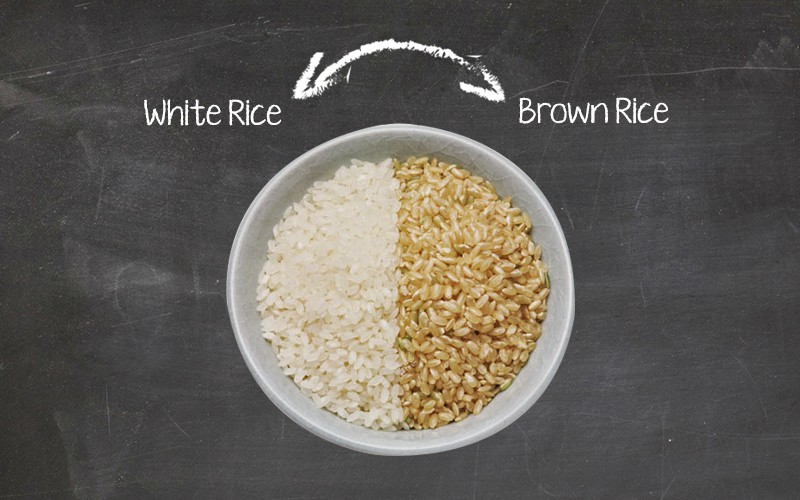 brown rice.